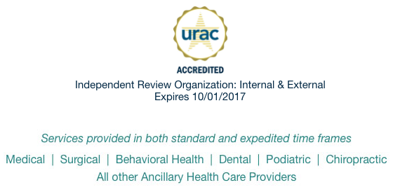 National Medical Reviews, Inc. has full accreditation from URAC as an Independent Review Organization