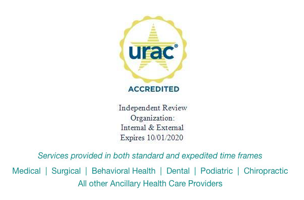 National Medical Reviews, Inc. URAC Independent Review Organization